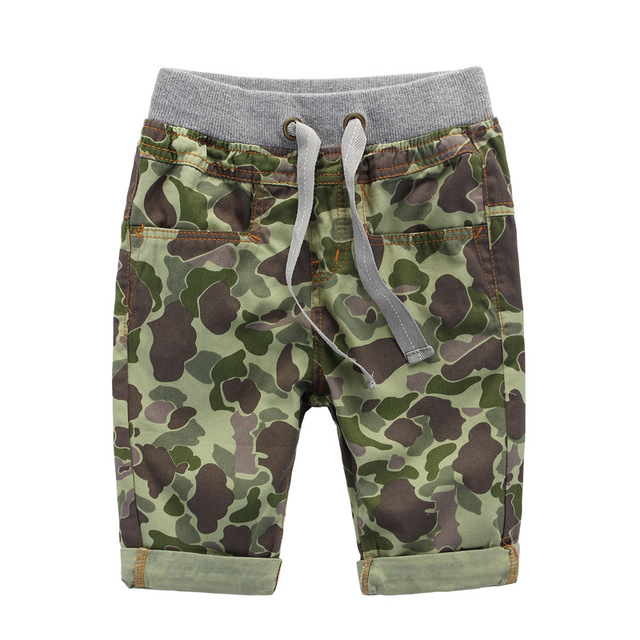 Kids 2016 New Summer Pants Boys Camouflage Jeans Shorts Children Denim Pant Trousers Fashion Quality