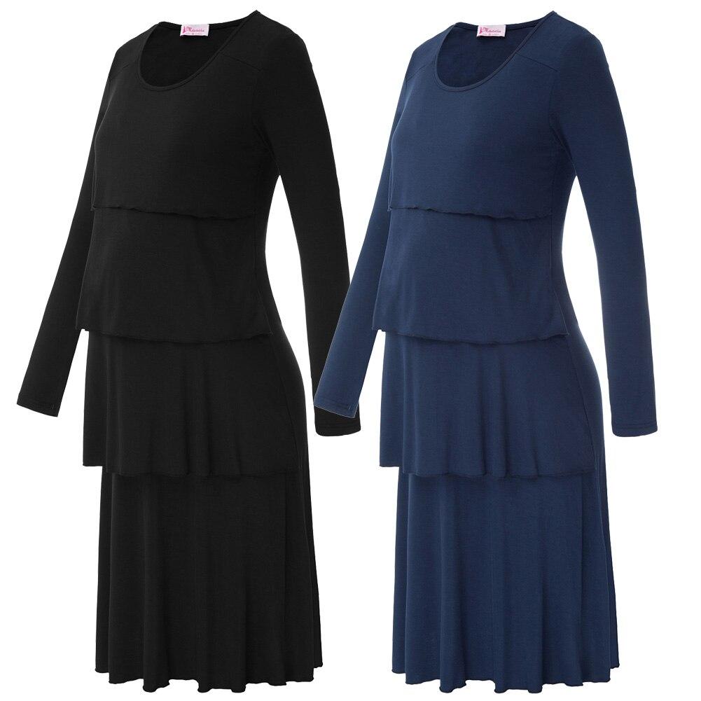 Black Navy Blue Big Size Women Dress Maacie Women -2930