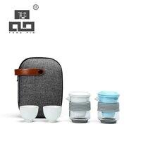 TANGPIN bule de vidro xícaras de chá conjuntos de chá em cerâmica viagem jogo de chá de vidro portátil com saco de viagem|Jogos de chá| |  -