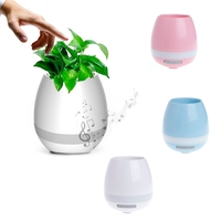 Smart Touch Plant Piano Music Flower Pot LED Light Wireless Bluetooth Speaker Night Light Soil Embedded