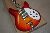 professional chinese electric guitar rickenback 340 cherry red hollow body 3 pickups 6 strings rickenback jazz guitar