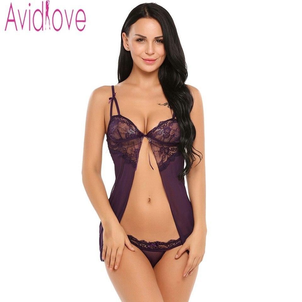 Avidlove Sexy Women Lingerie Fancy Underwear With G String Fitness
