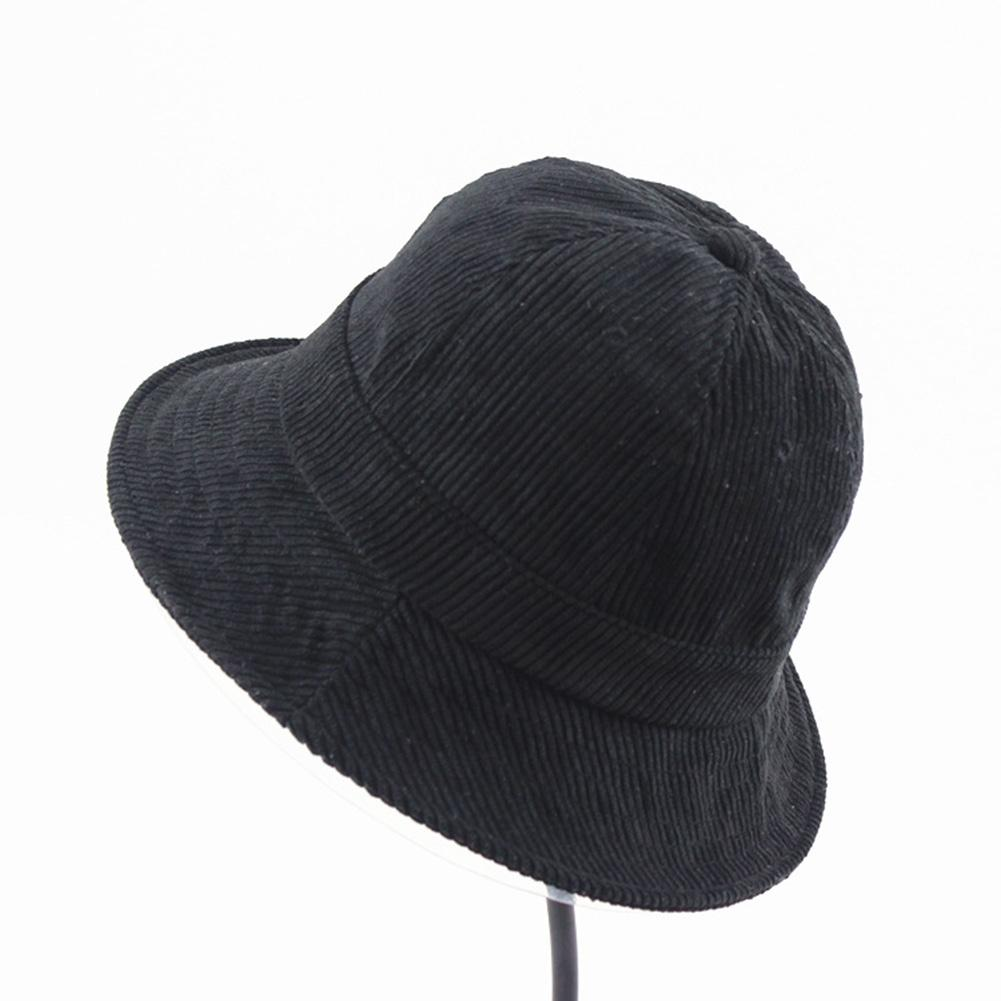 7ee6d46dd49 Coromose Corduroy Bucket Hat Fisherman Cap Short Eaves Monochrome Protection  Travel Beach Hip Hop Fishing Hiking Soft Dome FO-in Bucket Hats from  Apparel ...