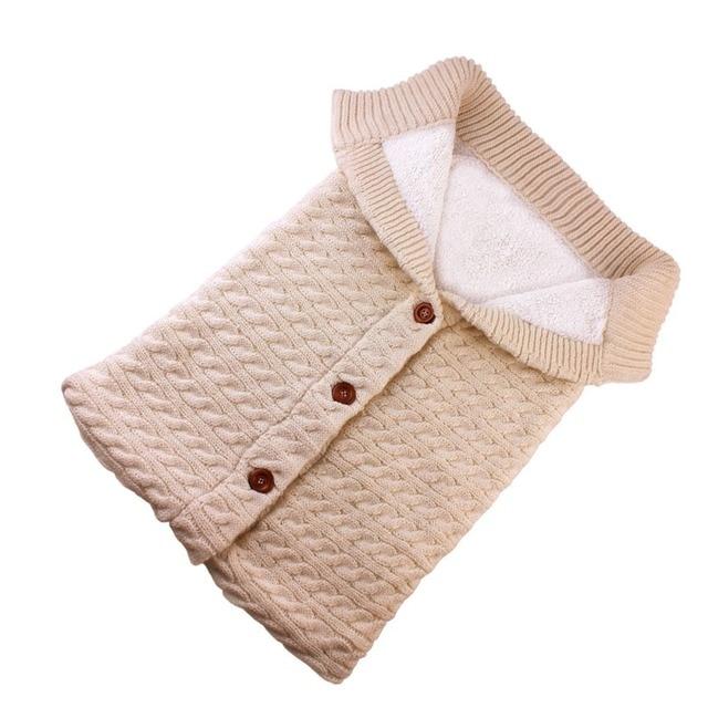 Puseky Baby Sleeping Bags Cotton Knitting Envelope for Newborn footmuff for stroller sleeping para bebek winter 2018 5