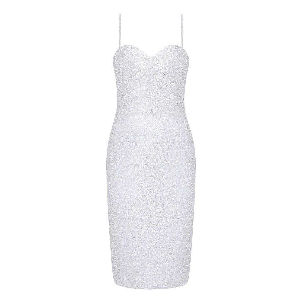 Bandage Blanc Genou Robe 2018 Designer Parti Nouvelle Arrivée Tricoté Cou V Sexy Au Longueur Élégant znI0q8wp