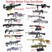 Gun-Model Toy Assembly-Gun Building-Bricks Puzzles Action-Figure Model-Pubg-Weapon Rifle