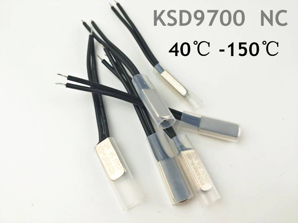 2PCS KSD9700 250V 5A Bimetal Disc Temperature Switch N/C Thermostat Thermal Protector 40~135 degree centigrade 2pcs ksd9700 250v 5a bimetal disc temperature switch n c thermostat thermal protector 40 135 degree centigrade