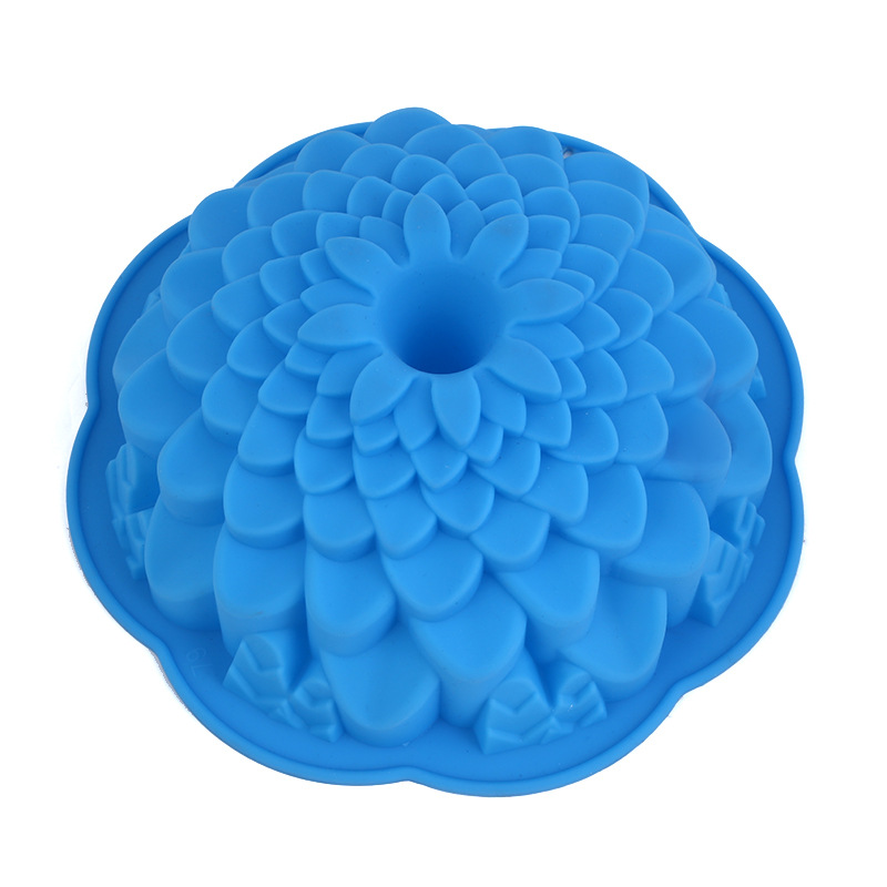 187e8b17ea837 Big Size Flower Cake Mold Silicone Daisy Flower Bread Pan Chiffon Cake Mold  Sunflower Bakery Pastry Bread Baking Mould H662