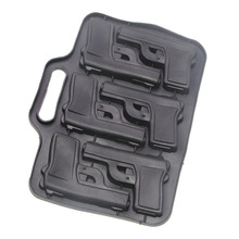 6 Cavities Gun Pistol Shaped Silicone Mold Chocolate Ice Cube Tray Muffin Molds DIY Party Drink Tools