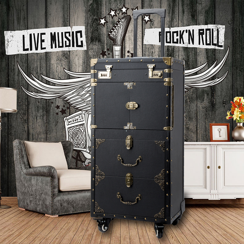 New large capacity Trolley Cosmetic case Rolling Luggage Nails Makeup Toolbox Multi layer Beauty Tattoo Salons