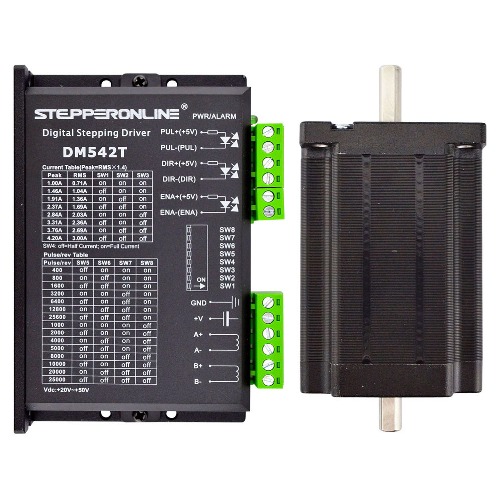 1 Axis Stepper CNC Kit 3.1Nm(439oz.in) Nema 24 Stepper Motor & Driver nema24 3nm 425oz in integrated closed loop stepper motor with driver 36vdc jmc ihss60 36 30