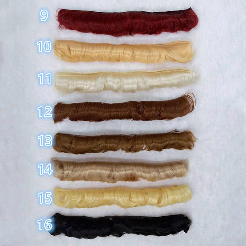 5 cm שיער פוני 5 cm * 1 m עבור 1/3 1/4 1/6 BJD SD chole יה Luoli בובת פאות חוט בטמפרטורה גבוהה סיבי תלתל שיער אוויר פוני