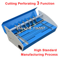 Metal Blue New 18inch 460mm Electric Creaser Scorer Perforator 3 in1 combo Paper Creasing Perforating 3 Function Machine