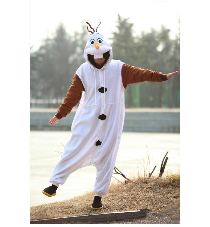 Olaf Cosplay kostiumas suaugusiųjų Oniesie pižama, pagaminta iš - Karnavaliniai kostiumai - Nuotrauka 5