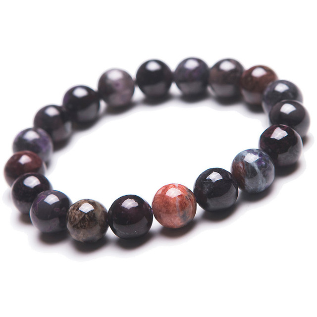 11mm South African Genuine Natural Sugilite Stone Bracelets For Women Lady Charm Stretch Bracelet Free Shipping