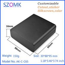 1 pc, 30*88*95mm extruded aluminum project enclosure outlet box equipment case szomk aluminum amplifier enclosure project box(China (Mainland))