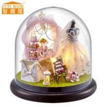 CUTE ROOM B022 bricolage maison de poupée avec meubles amour est permanent jouets pour fille ami cadeau maison de poupée miniature pour cadeau de vacances