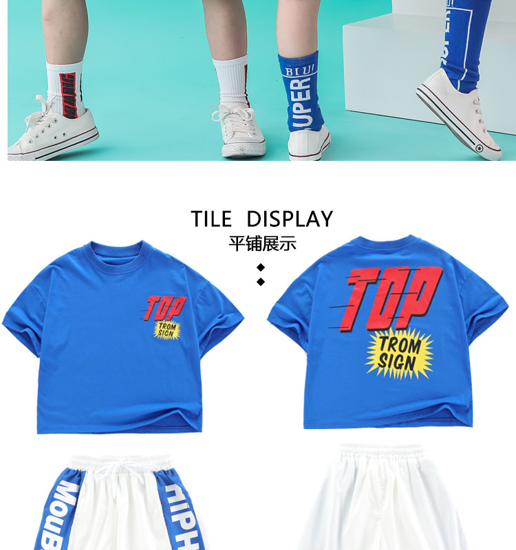 Kid clothes girl Boy set Summer 2019 4 6 8 10 12 14 Years Hip Hop T shirt Pants dance costumes kids boys Girls young clothes (13)