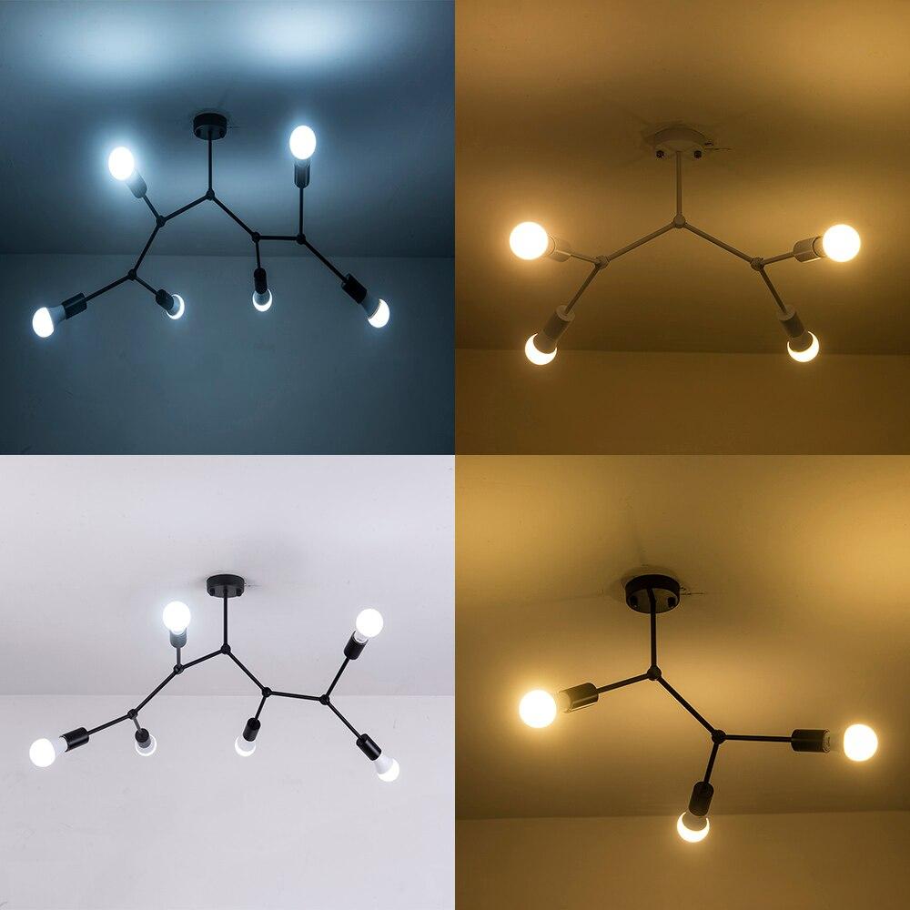 AC90-260V plafonniers à têtes multiples 12 W LED très brillante plafonniers LED montés en Surface