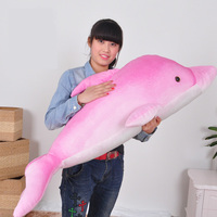 Fancytrader Giant Plush Dolphin Soft Toys Jumbo Stuffed Animals Dolphin Doll 115cm Blue Pink Real Pictures