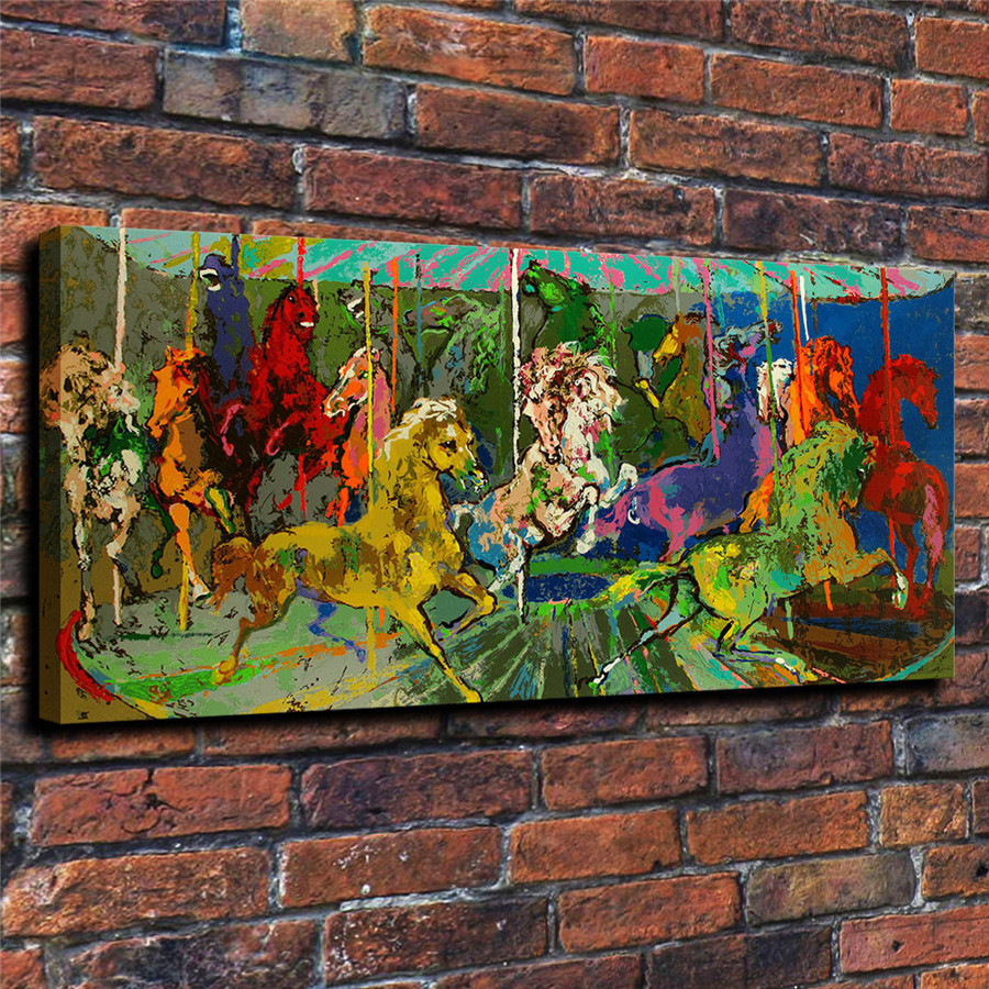 LeRoy Neiman Music and Sports Event Color Print Canvas Painting Living Room Bedroom Home Decor Modern Mural Art Oil Painting#001