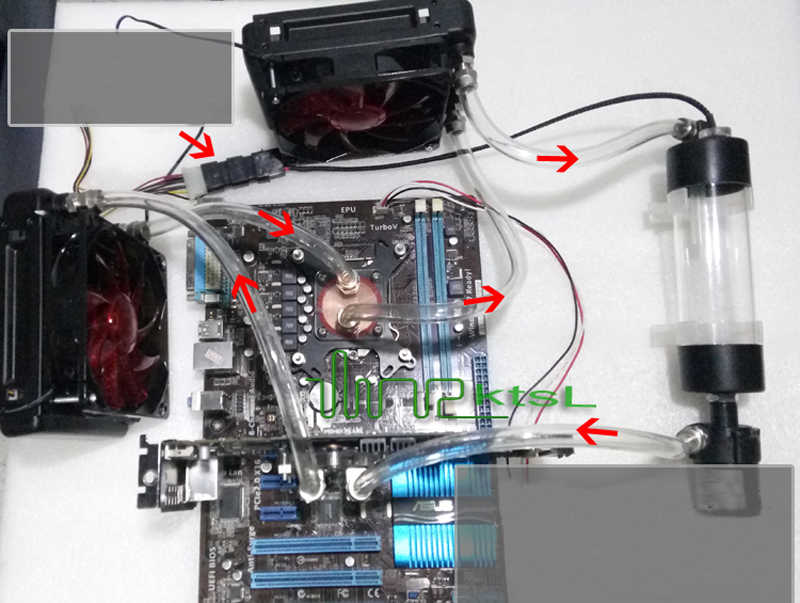 DIY PC gaming CPU Water Cooling System Kit i3 processor Computers Radiator  Pump Reservoir Heat Sink 240mm Water row for gtx650