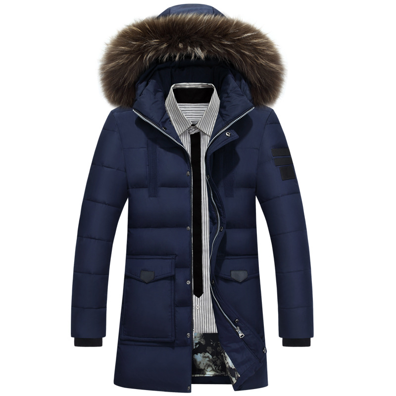 778113111ae20 2018 New Down Parka Men Winter Jacket Men s High Quality Hooded Down Coat  Thick Long Coat for Male Fur Collar Plus Size 3XL-in Down Jackets from Men s  ...