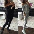 Moda 2 Pcs Mulheres Casuais Treino Sportswear Tops & Calças Camisola Das Mulheres Para O Atleta