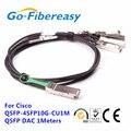 1 peças compatível para Cisco QSFP-4SFP10G-CU1M Direct Attach cobre cabo Twinax QSFP + para 4SFP + DAC cabos 1 M