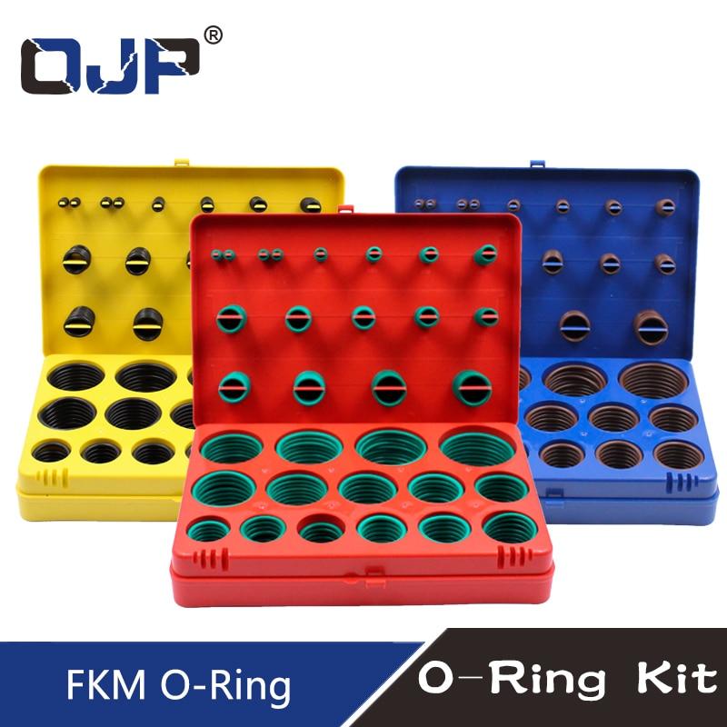 390PC Rubber Ring Green FKM Viton O Rings Kit 30Sizes O ring Seal Rubber Orings Washer