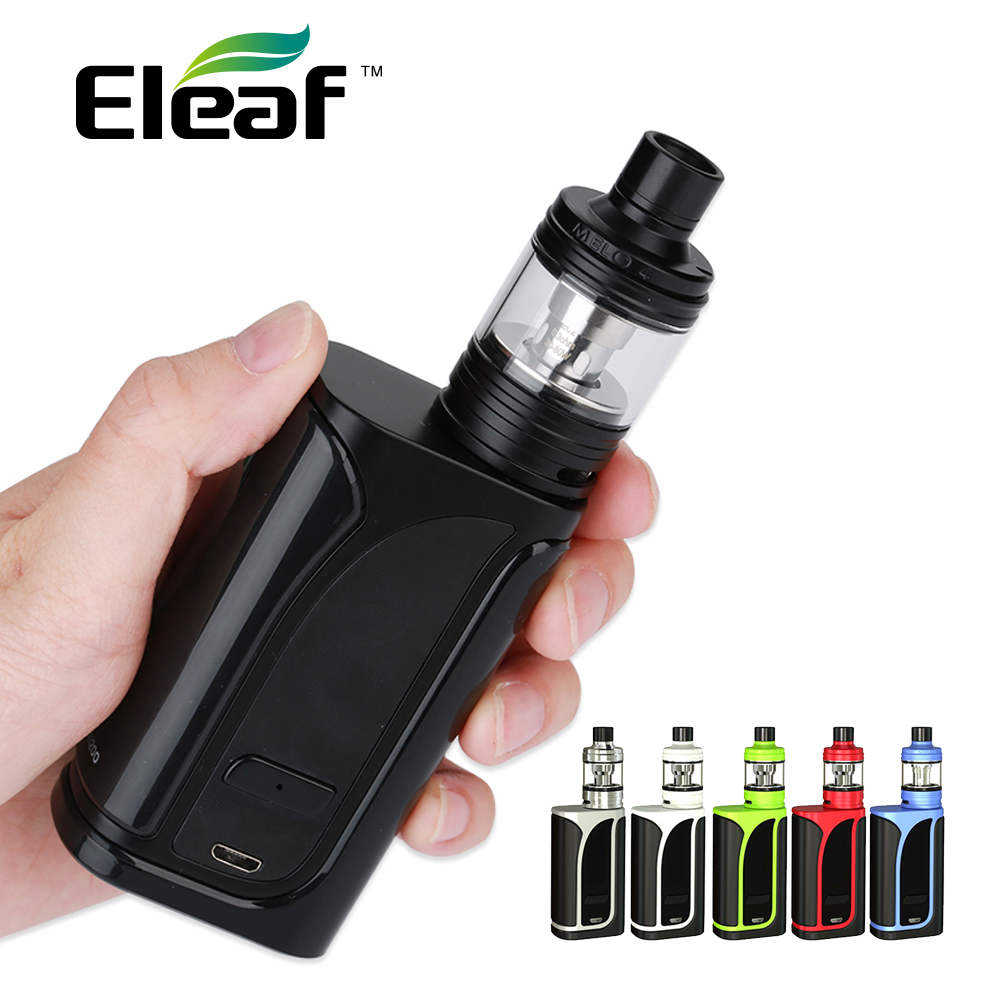 Authentic Eleaf iKuun i200 iKuu i200 TC Kit 4600mAh Battery with Melo 4 Atmoizer 4.5ml w/ EC2 Coils E-cigarette Vape Kit