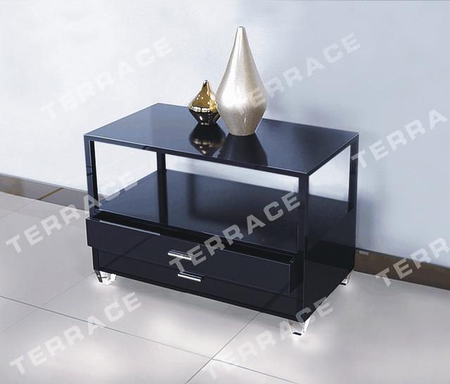 Plexiglás Lucite mesita de noche mesa con cajones, lámpara de acrílico mesas