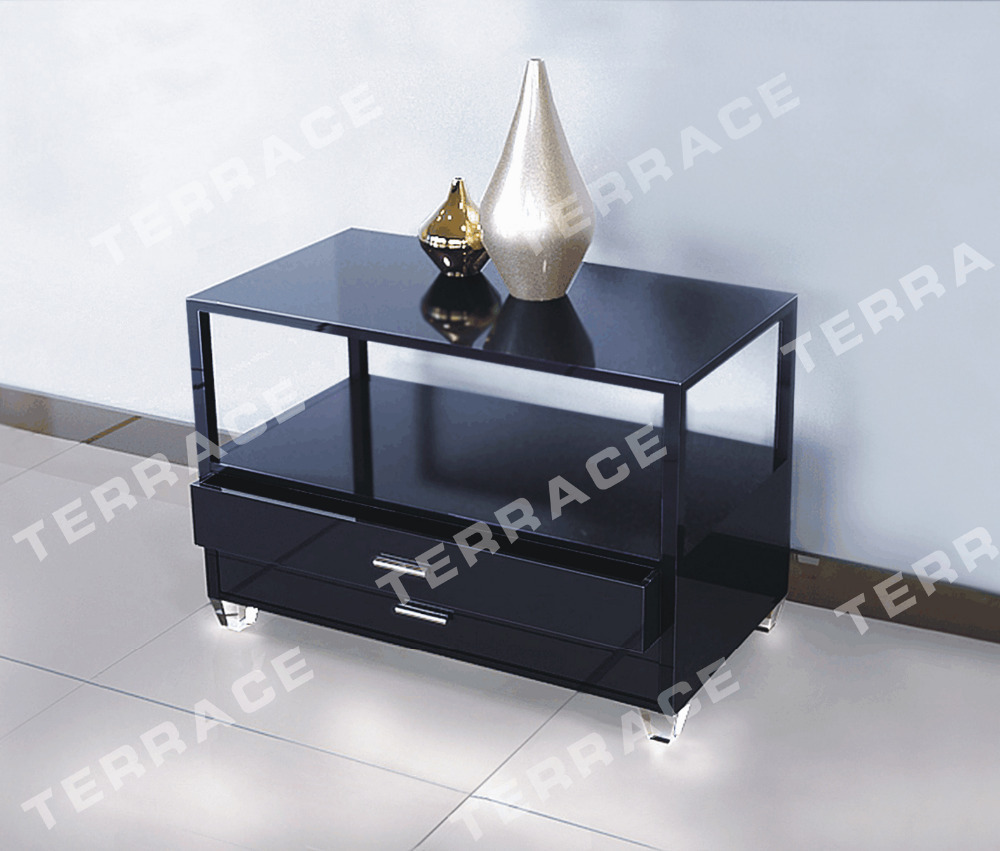Plexiglass Lucite nightstand Table with Drawers,Acrylic Lamp Tables free shipping shelf clear acrylic lucite bedside table plexiglass nightstand