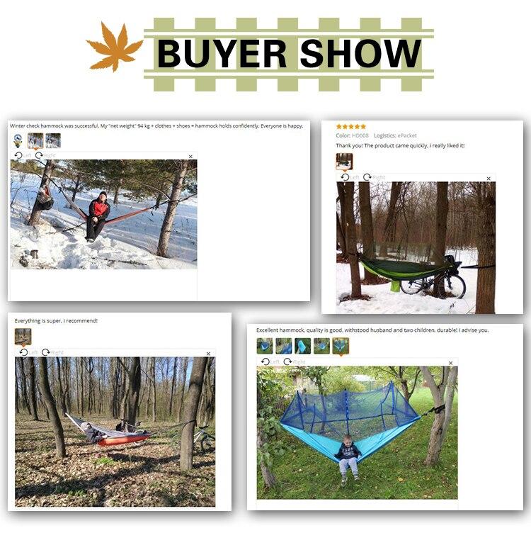 Купить с кэшбэком Ultralight Parachute Hammock Hunting Mosquito Net Double Person Sleeping Bed  Drop-Shipping Outdoor Camping Portable Hammock