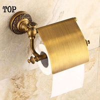 All copper type roll of paper Archaize paper holder creative toilet paper holder Restore ancient ways the new paper towel rack