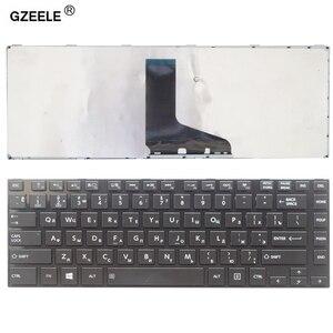 GZEELE rosyjski klawiatura laptopa dla toshiba z dostępem do kanałów satelitarnych L800 L805 L830 L835 L840 L845 P840 P845 C800 C840 C845 M800 M805 M840 RU