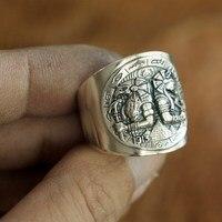 925 Sterling Silver Egypt God Ring Mens Biker Punk Ring TA104A
