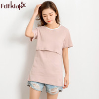Fdfklak 2018 Summer Short Sleeve Maternity T Shirts Clothes For Nursing Mothers Pregnant Clothes Nursing top Pregnant Tees F218