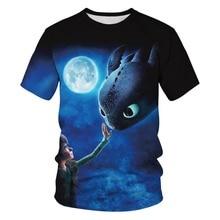 New Design 3D Print Cartoon How to Train Your Dragon Tshirt Men/women Casual Tee T shirt Boy Hipster Blue T-shirt Kawaii Clothes