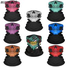 Free Shipping Air Force Skull Tubular Protective Dust Mask Bandana Motorcycle Riding Polyester Scarf Face Neck Warmer Mask(China)