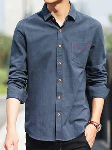 KK GEEZER Casual Shirts COTTON For Man's Long Sleeve