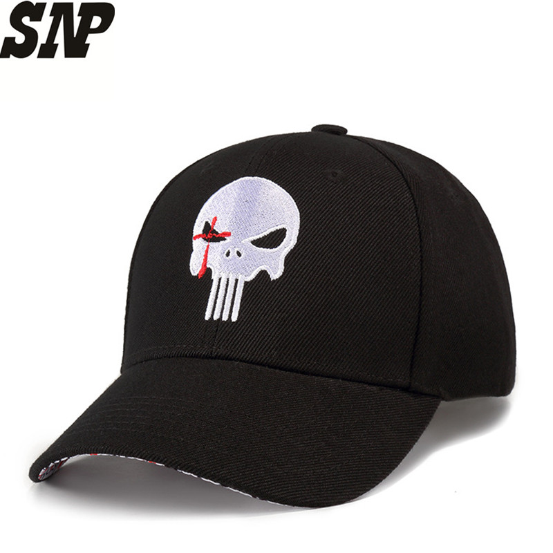 New Fashion   Baseball     Cap   Unisex Sports leisure hats embroidery punisher   cap   for men and women bones dad hat adjustable 54-60CM