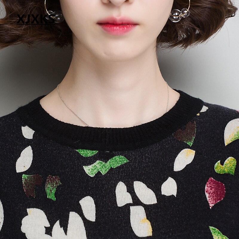 Tricot 100 Pull Nouveau Pur Imprimé Et Haut Xjxks Confortable Automne Chaud Chandail De En Gamme Hiver 2018 Top Laine Multi Femmes OH1zqgwt