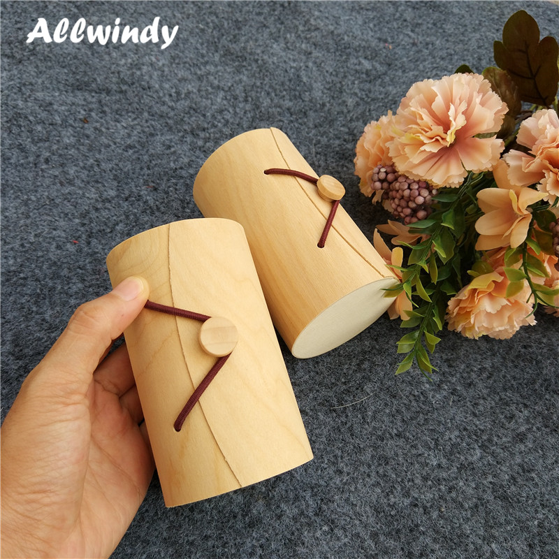 Natural Birch Wood Circle Box Sundires Mini Candy Packaging Box Accessories General Beauty Tea Pot Box 6*9cm 3pcs/lot ...