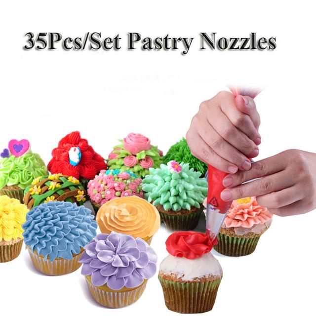 Steel Pastry Tips 35 Pieces Set