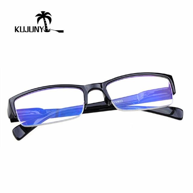 KUJUNY Half-Frame Reading Glasses Women Men Presbyopic Glasses Stylish Hanging Elderly Eye Glasses Slim Presbyopia Eyeglasses