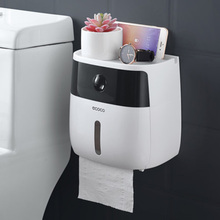 LF82003 пластиковый держатель для туалетной бумаги Ванная комната двойная бумажная коробка для салфеток настенная бумажная полка для хранения, коробка диспенсер для туалетной бумаги