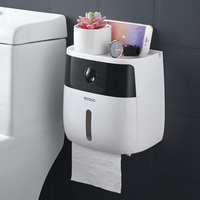 LF82003 toilet paper holder creative plastic bath toilet paper holder wall mounted paper storage box toilet tissue dispenser