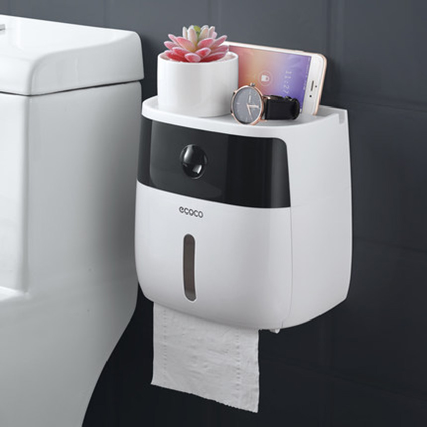 LF82003 toilet paper holder creative plastic bath toilet paper holder wall mounted paper storage box toilet