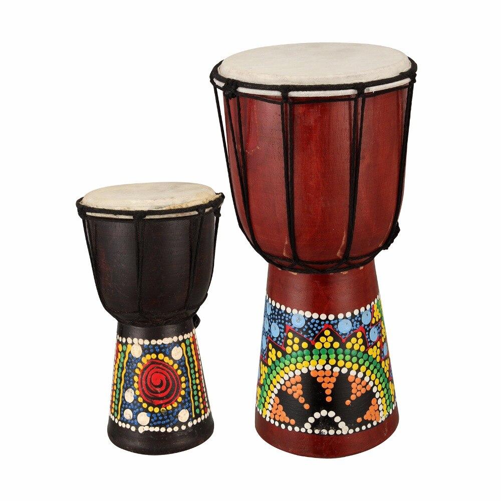 Manual de Madeira Musical de Percussão Tambor Djembe Africano Instrumento Polegada 6 Presente